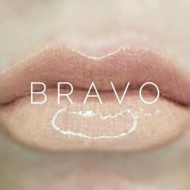 ON MOST SKIN TONES, BRAVO HAS MORE OF A PINK UNDERTONE TO IT AND LOOKS LESS WHITE