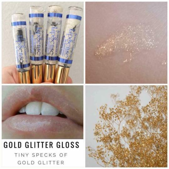 Gold Glitter Gloss Collage