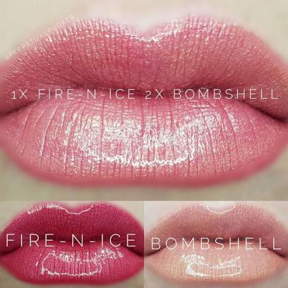 Layering Example - Fire N Ice and Bombshell