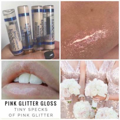 Pink Glitter Gloss Collage