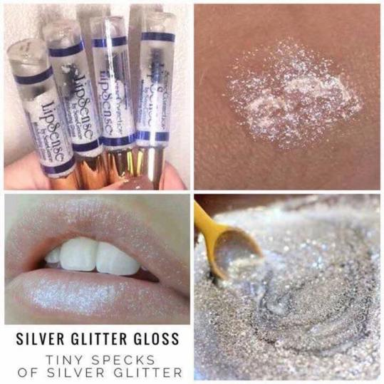 Silver Glitter Gloss Collage