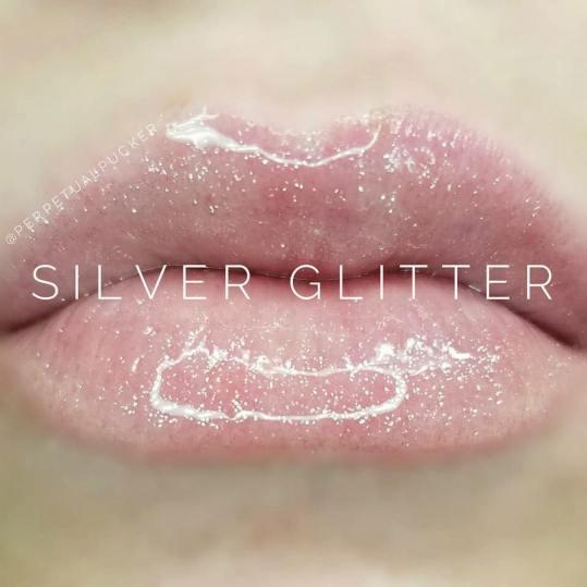 Silver Glitter Gloss Lips
